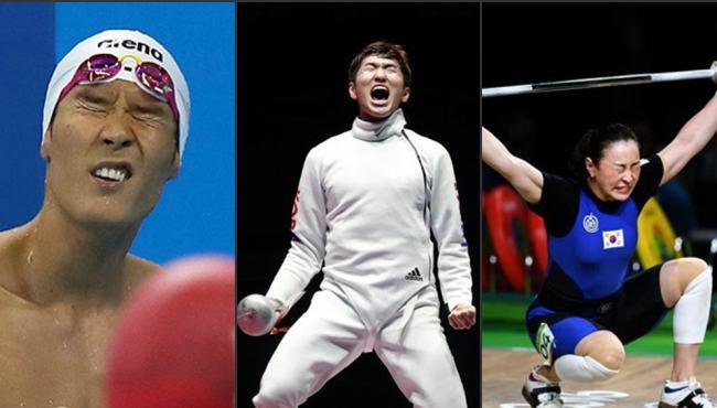 韓國隊奧運表情包出爐