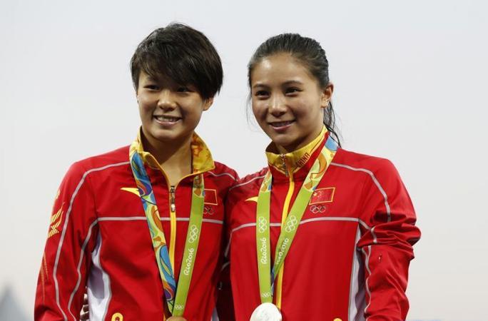 [리우올림픽] 中 선수 스팅마오&허즈, 다이빙 여자 3m 스프링보드 金, 銀메달