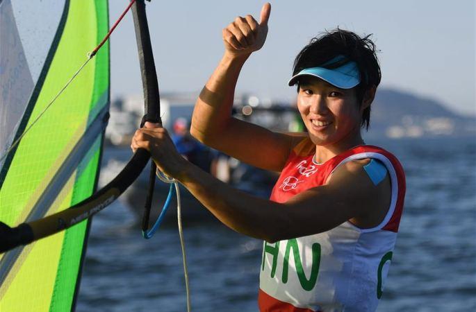 [리우올림픽] 여자 RS:X 윈드서핑, 천페이나 은메달 획득