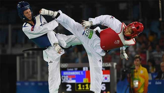 跆拳道——女子49公斤級:韓國選手奪冠