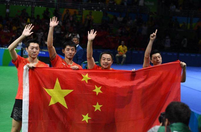 중국, 리우올림픽 탁국 남자단체 金...3회 연속 전 종목 석권
