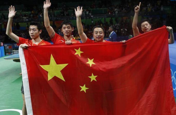 [리우올림픽] 중국, 탁구 남자 단체 금메달