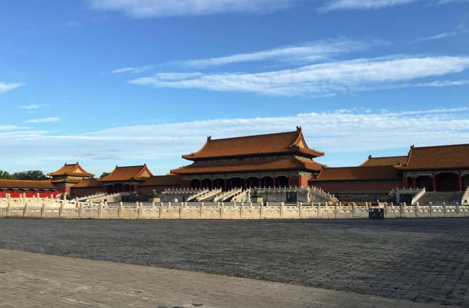 베이징, 푸른 하늘과 하얀 구름...절경에 취해