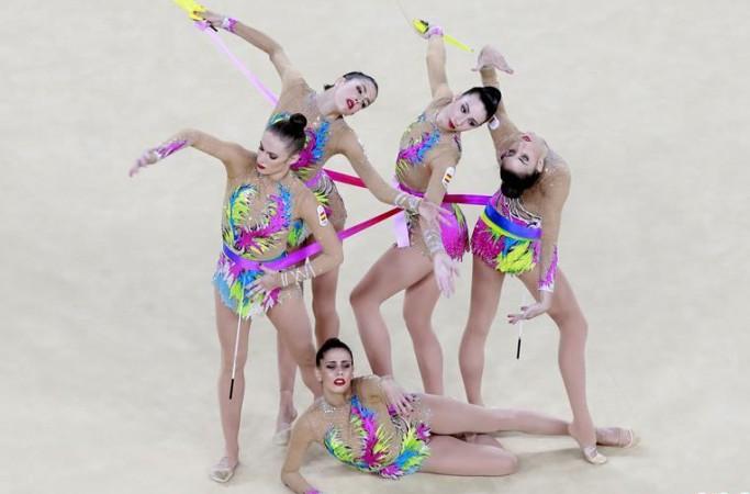 [리우올림픽] 리듬체조 각국 선수 다투어 아름다움을 뽐내
