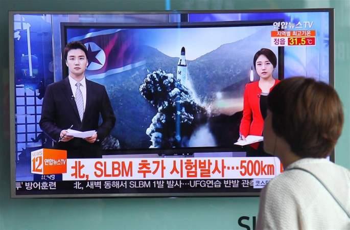 韓 군부측, 朝에서 잠수함탄도미사일 한 발 발사했다고