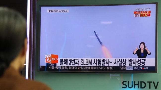 韓稱朝發射潛射導彈