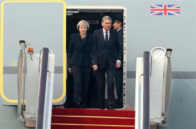 테레사 메이 영국 총리 항저우 도착