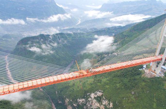 세계에서 가장 높은 다리 완공, 대략 200층 높이