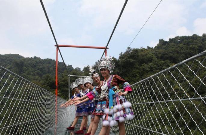 광시 솽룽고우 유리잔도 국경절 연휴 운영 투입