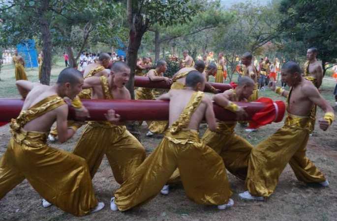 소림무술축제에서 선보인 쿵푸소년