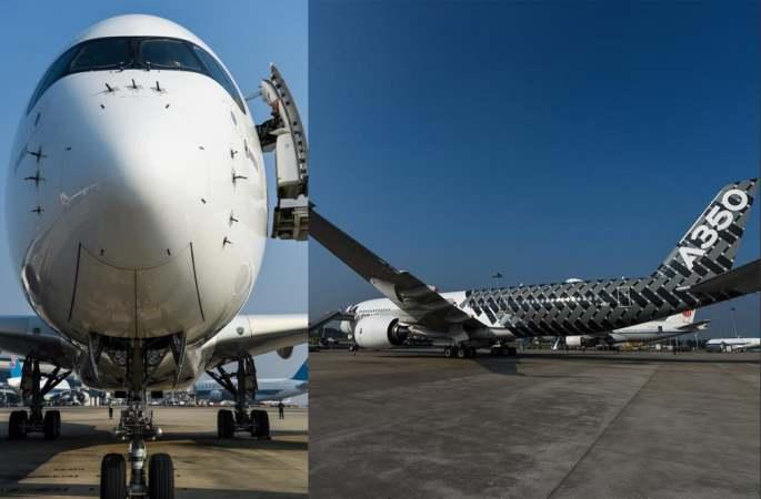 장거리 항공기 에어버스 A350 광저우서 선보여