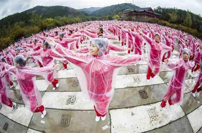 14개 도시 5만명 함께 광장무(廣場舞)를...기네스세계기록 경신