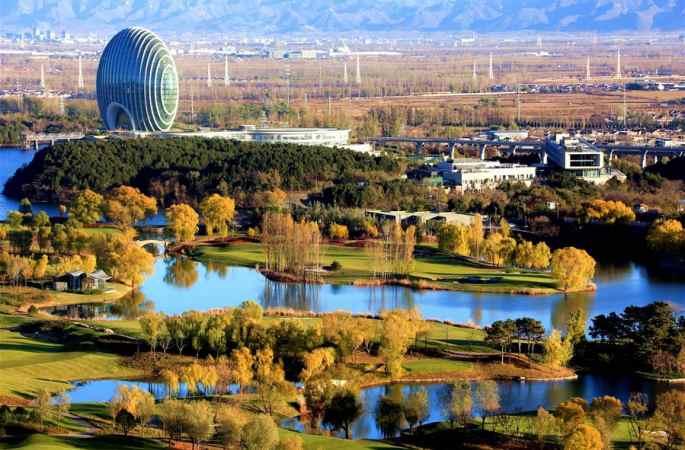베이징 옌치후 아름다운 풍경