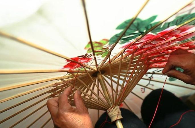 오동나무 향 가득한 '유지우산', 천 년의 역사 간직해