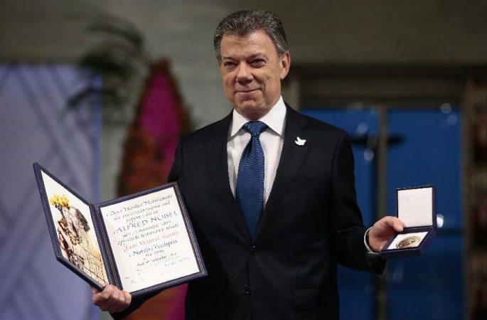 콜롬비아 대통령 2016년 노벨평화상 수상