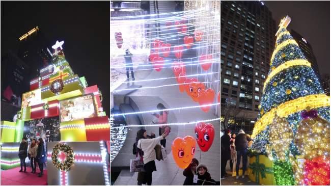 首尔清溪川张灯结彩迎圣诞