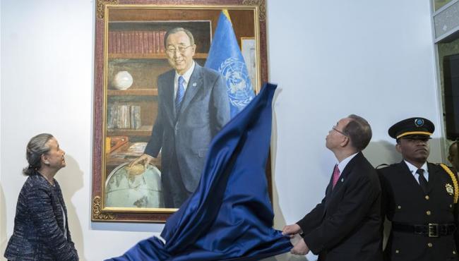 联合国挂起潘基文画像