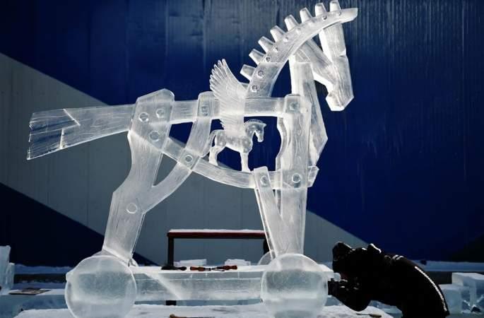 하얼빈 국제얼음조각경연대회 폐막