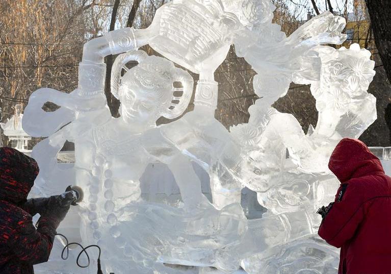 제36회 전국 얼음조각전문경연대회 하얼빈서 폐막