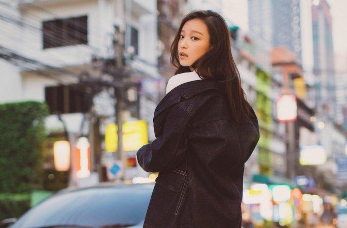 중국 여배우 니니, 청순+여성美 화보...진자켓에 롱셔츠 매치