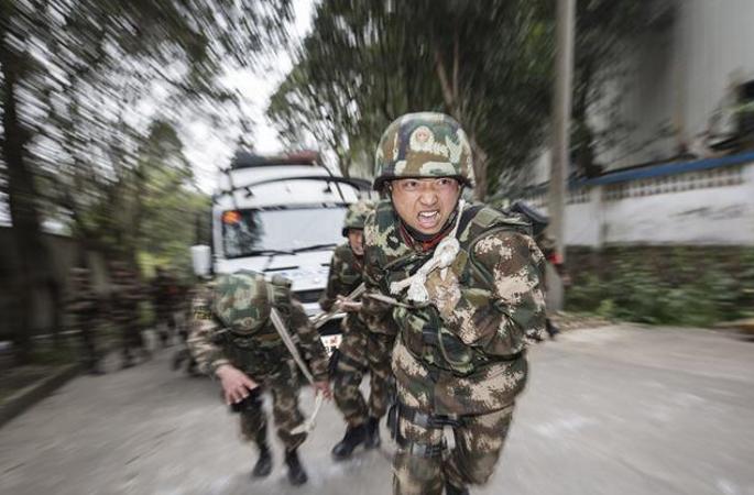 다지역 정예병사 훈련...150여명 병사로 구성된 '돌격대'