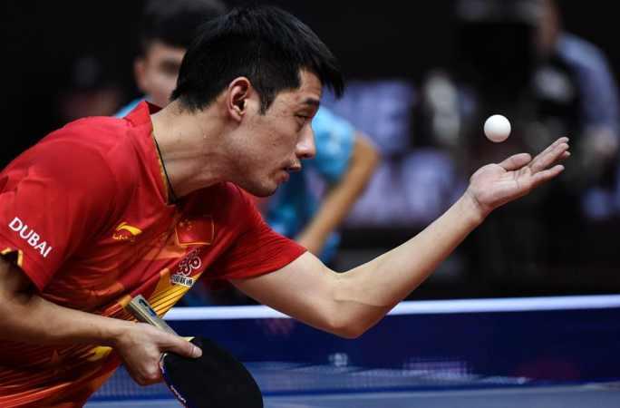 세계탁구선수권대회 선발전: 장지커, 2:1로 저우치하오 이겨