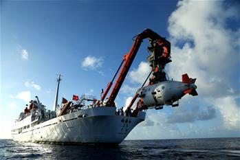 '자오룽'호 마리아나해구서 올해 마지막 잠수 진행
