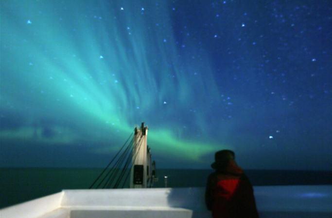 북극 동북 항로를 항행한 中 상선 북극해 떠나