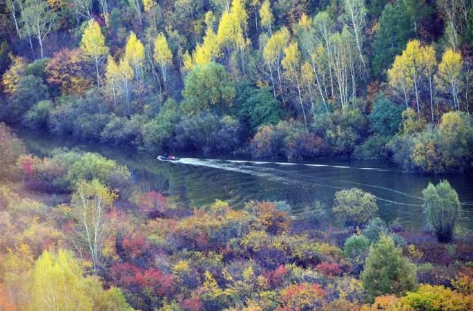 헤이룽장 후마:찬란한 가을 풍경