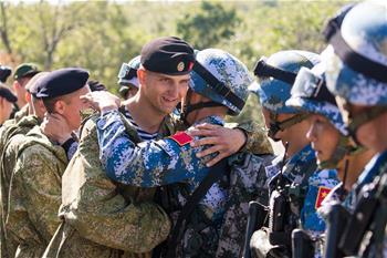 '해상 합동—2017': 中俄 해병대, 합동반테러 경연대회 개최