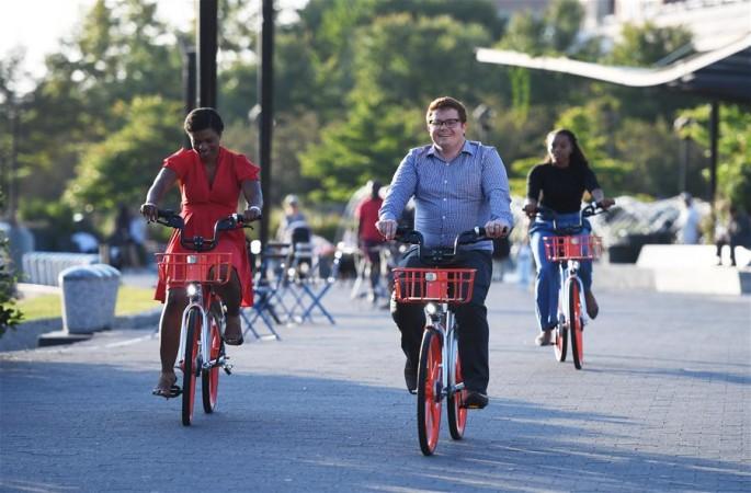 중국 공유자전거 미국 워싱턴에 등장…30분에 1달러