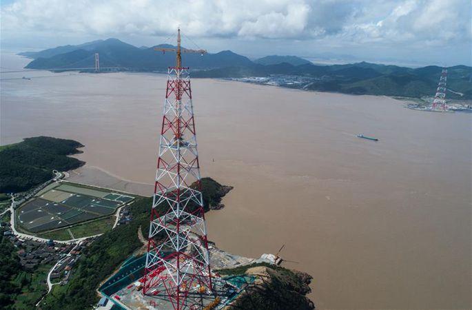 세계서 가장 높은 송전탑 곧 공사 스퍼트 단계에 진입